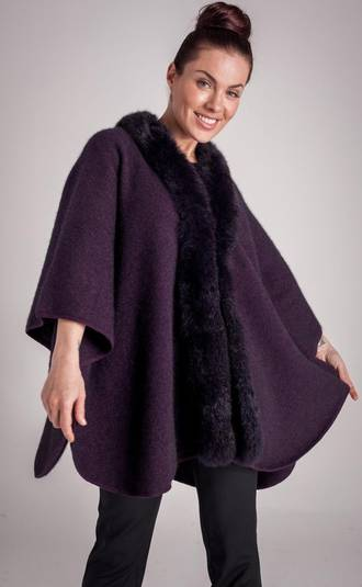 Ladies' Possum-trimmed Cape