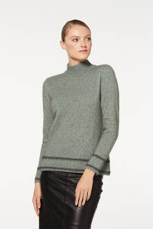 Ladies' Stripe Detail Turtle Neck