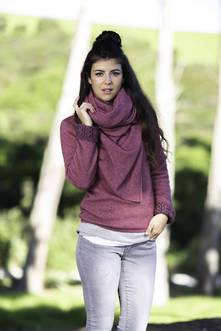 Ladies' Lightweight Moss Stitch Wrap