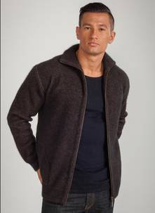Men's Plain Zip Jacket with Pockets