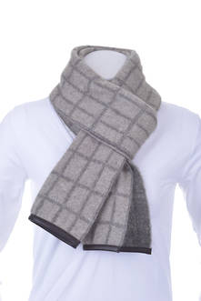 Men's PMS Scarf with Lambskin Trim