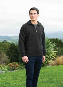 Men's Zip Collar Jumper