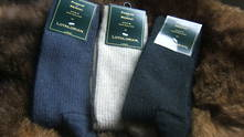Fine Dress Socks: Rib