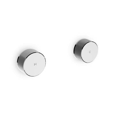 Components Wall Mount Oyl Dual Handles Trim (excluding valve)