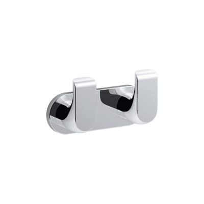 Avid Double Robe Hook Polished Chrome