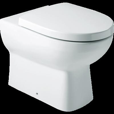 Panache Wall Faced Toilet: P-trap, Bevel FP