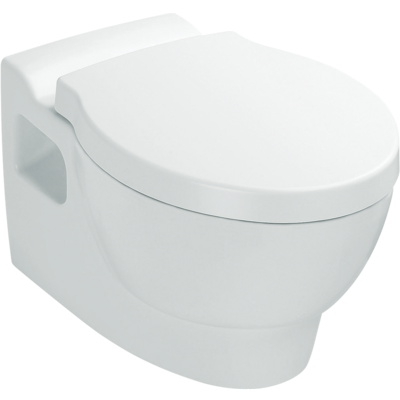 Ove Wall Hung Toilet with oval flush button