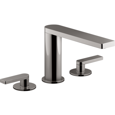 Composed 3TH Basin Set with Lever Handles Titanium Spare Parts