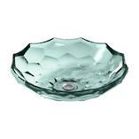 Briolette Faceted Glass Vessel Basin