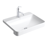 Forefront Rectangular Semi Recessed Basin