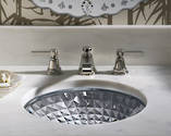 Kallos Spun Glass Under Counter Basin