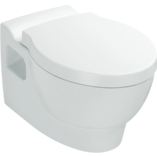 Ove Wall Faced Toilet with oval flush button