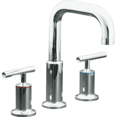 Purist Goose Neck Spout Basin Set with Lever Handles