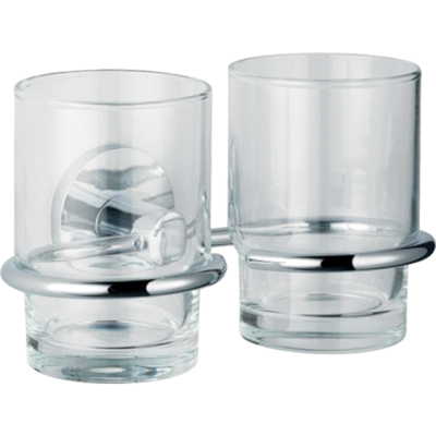 July Double Glass Tumbler with Holder