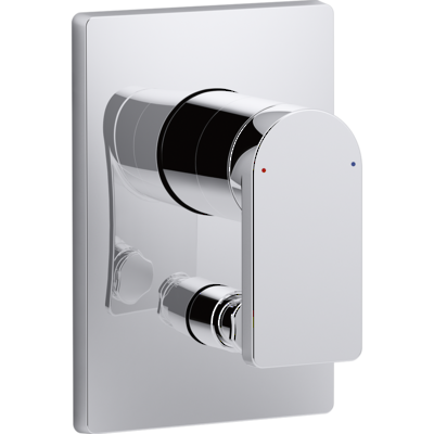 Composed Bath and Shower Mixer with Diverter Polished Chrome