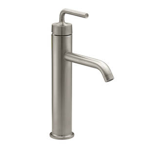 Purist Tall Basin Mixer - PVD Vibrant Brushed Nickel