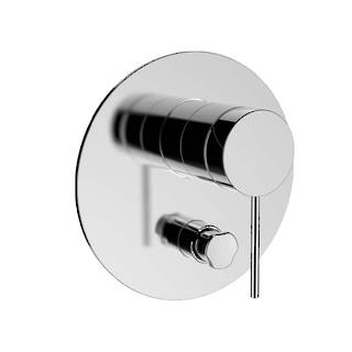 Components Shower/Bath Mixer with Diverter Thin Trim - Pin Handle (excluding valve)