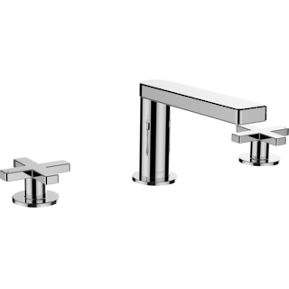 Composed Hob Basin Set with Cross Handles Polished Chrome
