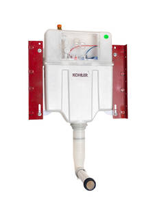 Pneumatic In Wall Cistern 150mm Wall Faced, Low Level Installation