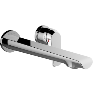 Avid Wall Mount Basin Set Polished Chrome