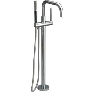 Purist Floor Mount Bath Filler with Mounting Plate - 5 finishes