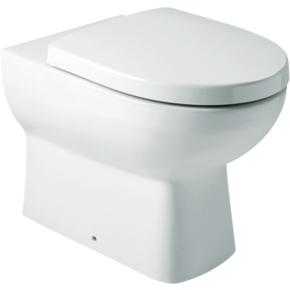 Panache Wall Faced Toilet: S-trap, Oval FP