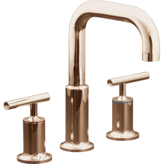 Purist Hob Mount Basin Set - Rose Gold