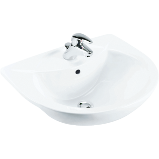 Odeon Semi-Recessed Basin 1TH