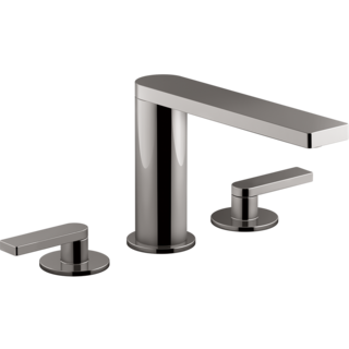 Composed Hob Mount Basin Set with Lever Handles Titanium