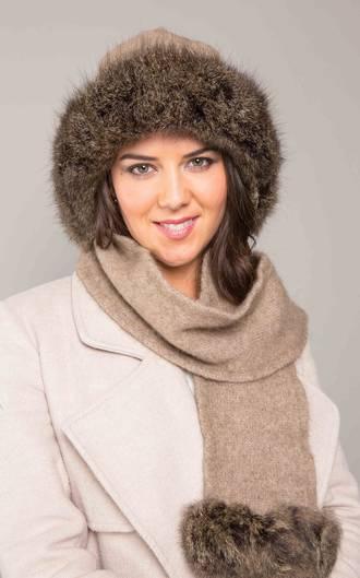 KO170 Fur Trim Hat/Scarf