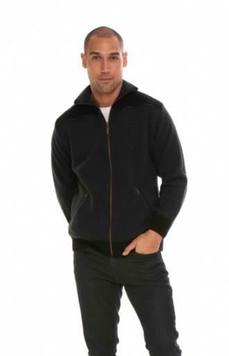 KO824 Leather Trim Jacket
