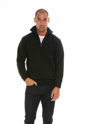 TR8002 Zip collar jumper
