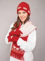KO168, KO108 & KO58 Sheep beanie, scarf & gloves