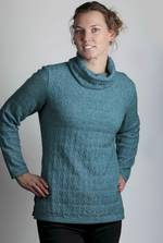 KO541 Textured cowl neck jumper