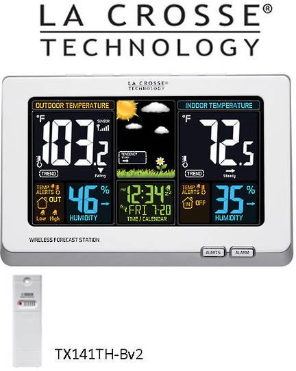 308-1414W La Crosse Wireless Colour Weather Station