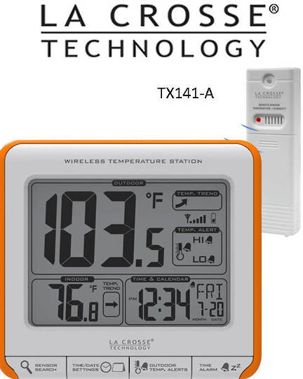 308-179OR Wireless 11cmx9cm Thermometer