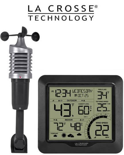 327-1417BW Professional B/W Wind Speed Weather Station