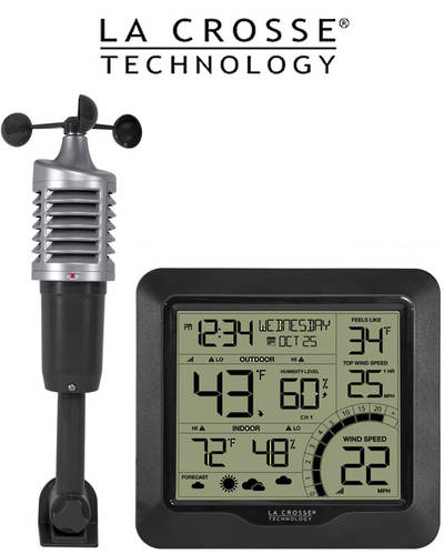 327-1417BW Professional B/W Wind Speed Weather Station