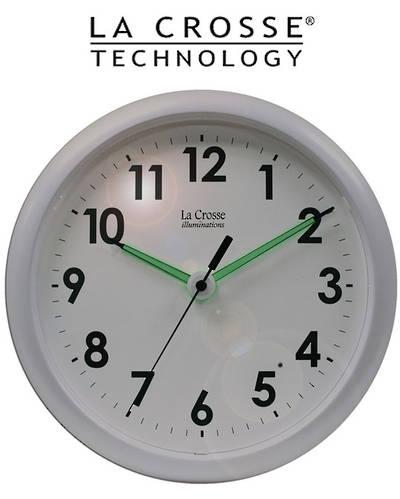 403-310 La Crosse 25cm Wall Clock with Glowing Hands