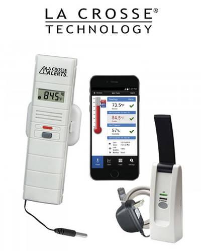 926-25106 LA CROSSE WIFI Temp Humidity Alert System with Standard Wet Temp Probe