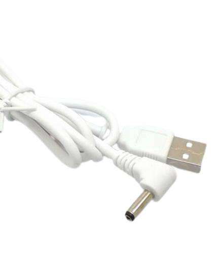 USB Plug to 3mm DC Plug 1.8m White Power Cable Lead