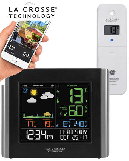 V10-TH La Crosse WiFi Colour Weather Station