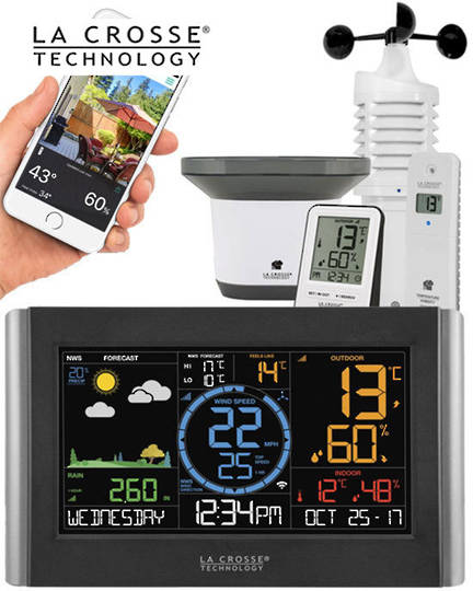 V22-WRTH-INT La Crosse Prof WIFI Colour Weather Station