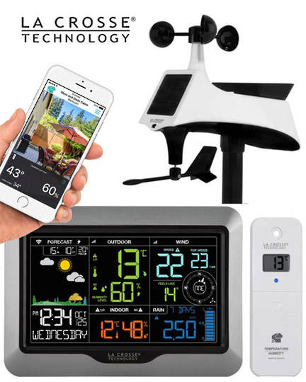 V40A-PRO La Crosse Professional WIFI Wireless Weather Station