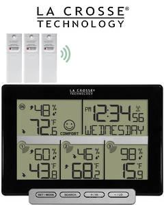 308-1412-3TX La Crosse Weather Station with 3 Remote Sensors
