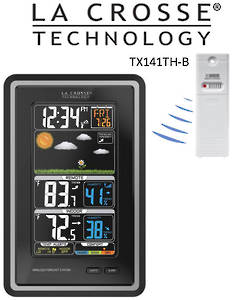 308-1425C La Crosse Colour Forecast Station with Temperature Alerts