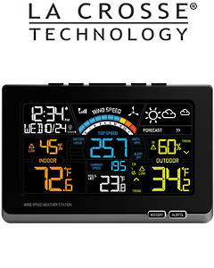 327-1414W Ver2 use EQV 327-1417 Ver2 La Crosse Wind Speed Colour Weather Station