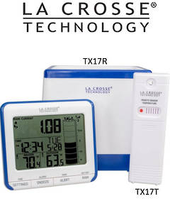 724-1710 La Crosse Wireless Rain Gauge with Temperature