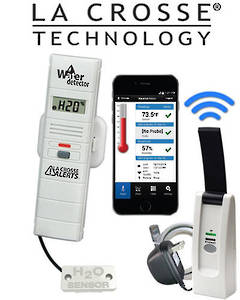 926-25105 La Crosse WIFI Alert System with Water Leak Detector
