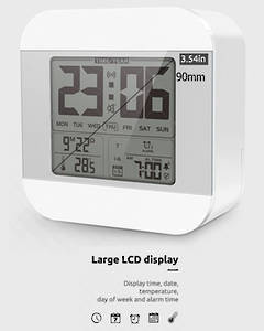 Smart Talking Clock Time and Temperature Speaking (White Colour)